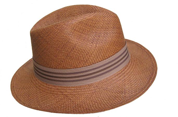 chapeau panama marron